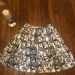 Calvin Klein black/white designed skirt